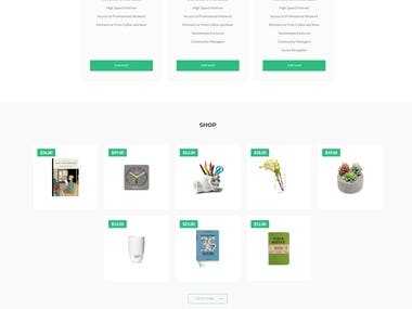Coworking co landing page design with in coding