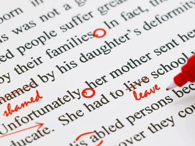 Proofreading And Content Editing