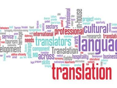 Medical ,Business,economic and media Translation