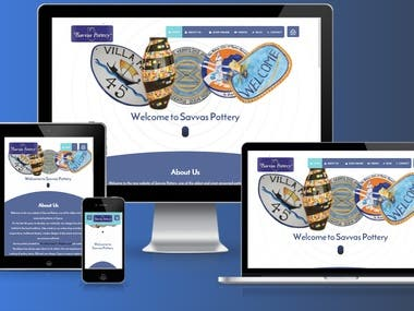 Wordpress Template for Pottery