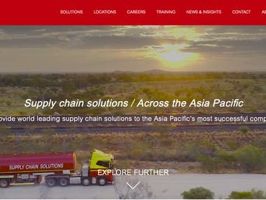 Logistic Website Design/ Development