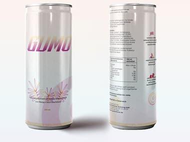 Soda Label - Vaporwave Style