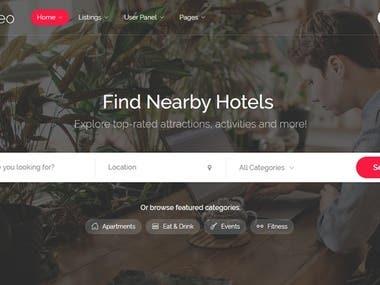 Listing Website Design