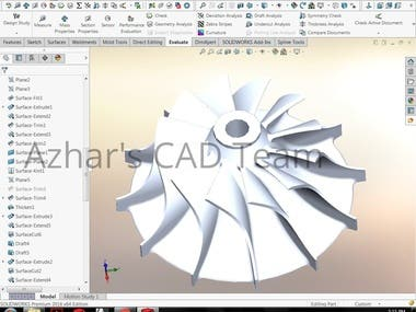 Impeller of Turbocharger IC engine