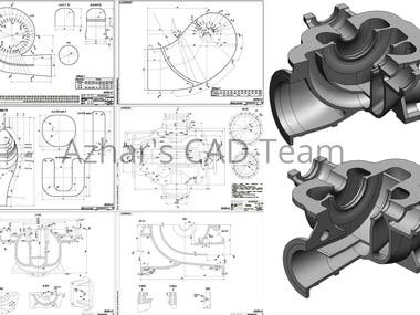 Pumps 3D Modeling - SolidWorks