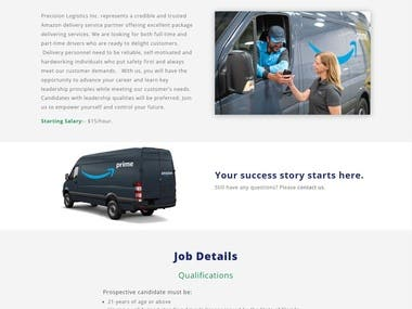 precisionlogisticsinc website