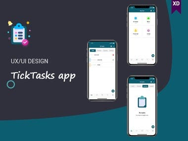 TickTasks app (UI/UX DESIGN)