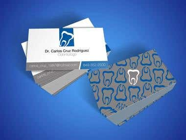 logo and business card design dentist