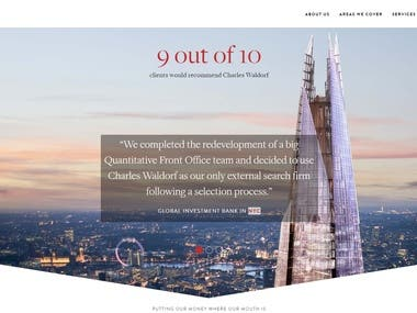 Website of Charles Waldorf, UK