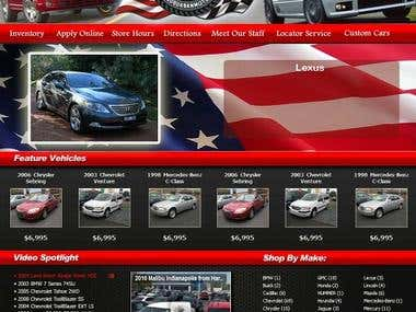 Custom Design and integration with 3rd party car dealer