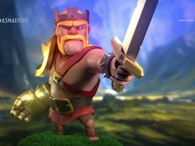 The Barbarian King Figures (Clash of clans Character)
