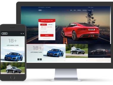 Audi - PWA, React, Asp.Net
