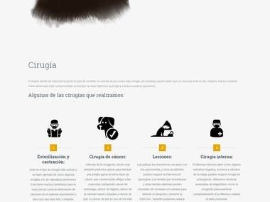 Sitio web para veterinaria