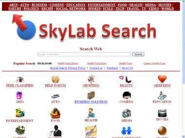 SkyLab Search New Search Engine.