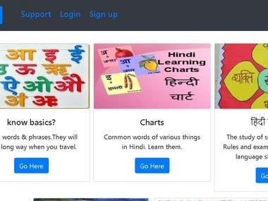 Python Flask website development for Learning tracking