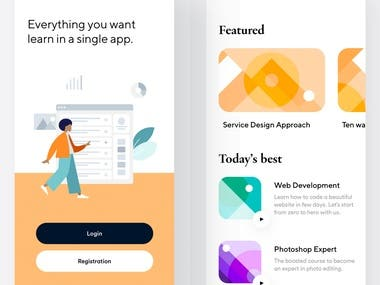 Learning App Interface