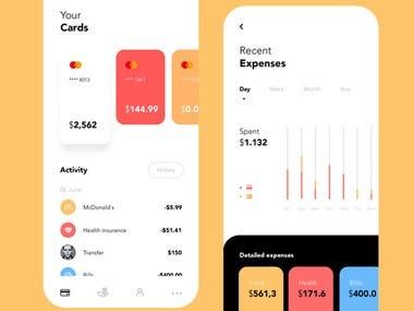 food ordering App interface
