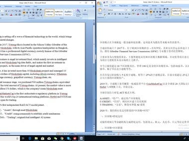 Manual English to Chinese (Simplified) Translation service