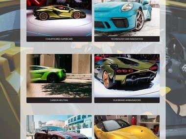 Car Website development