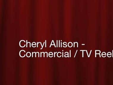 Cheryl Allison - Commercial/TV Demo Reel