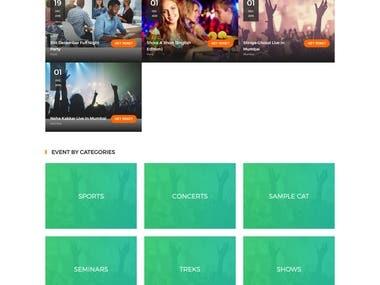 Develop Website for Event Organizer