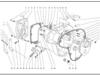 Exploded view of assembly.