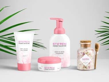 Brand Identity and Packaging design for skincare brand