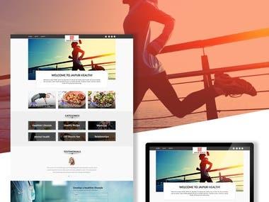 Web Design for Health Blog Website