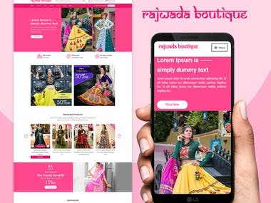 UX/UI Design for online fashion store