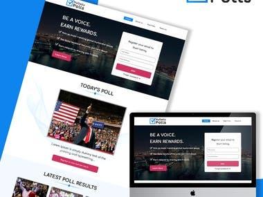 Web Design for Polling Platform