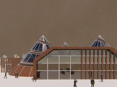 Exterior welcome center design
