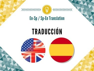Translator of English-Spanish and Spanish English