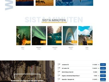 Websute for Travel Agency