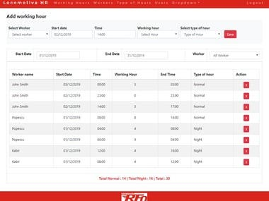Mechanics Working Hour Tracking Application