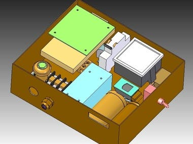 Electrical assembly in enclosure