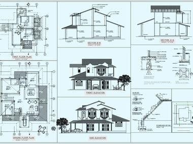 2d floor plan drafting for blueprint