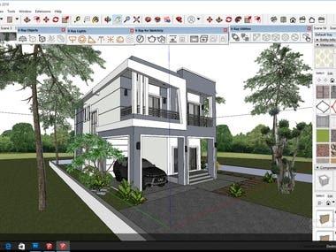 3d exterior design in google sketch up