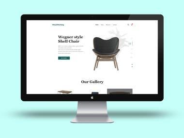 Website design for handmade furniture company