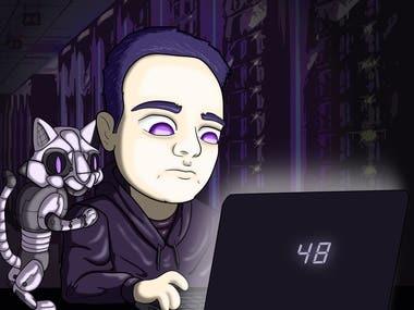 Caricature for profile picture