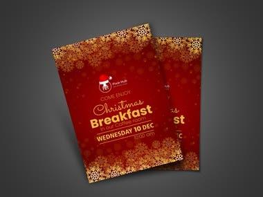 Christmas Breakfast Flyer