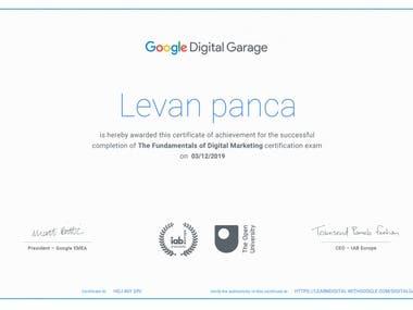 Certificated of google digital marketing