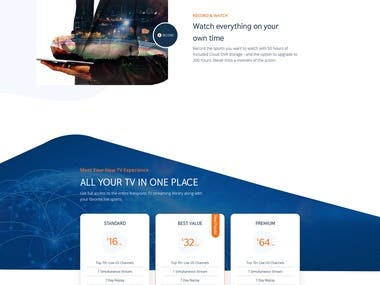 Sports Streaming Landing Page
