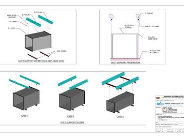 Duct Support Deatil Drawing