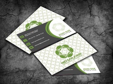 Business card mockup presentation