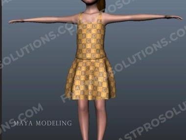 3D Girl Modelling