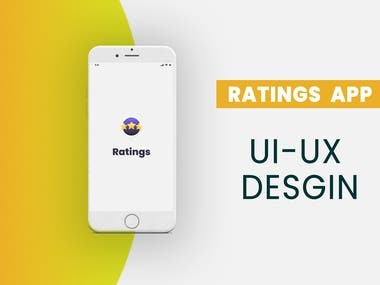 UX and UI for Ratings App