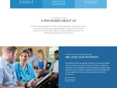 Medical Diagnostic Center Website Wordpress+Enfold theme