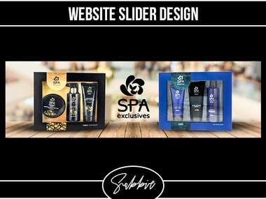 Website slider design for spa product