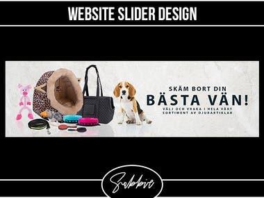 Pet products slider design