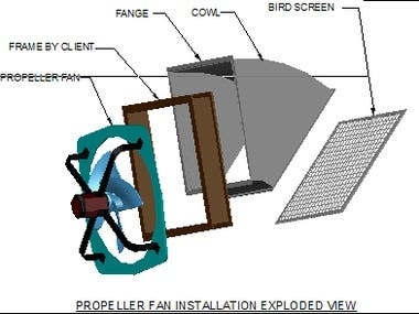 propeller Fan Installation 3d Exploded